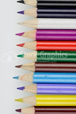 Color pencils - Stock Image