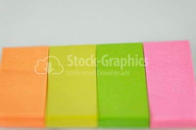 Multicoloured Note Paper