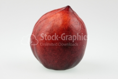 Nectarine on white background - Stock Image