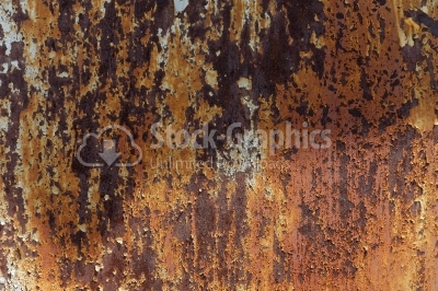Rusted iron surface