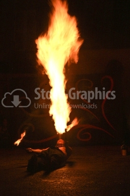 Fire magician - Stock Image