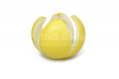 Fruit in grapefruit peel