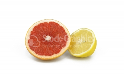 Grapefruits Isolated on white