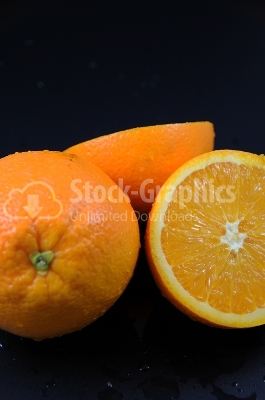 Oranges duo - Stock Image