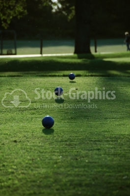 Beautiful golf park - Stock Image