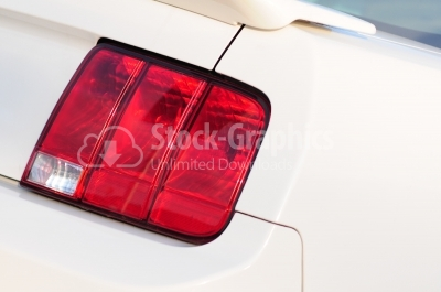 Car headlight - Stock Image
