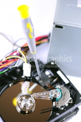 Computer hard disk - Stock Image