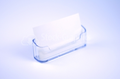 Adhesive note in plastic box
