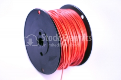 Red wire - Stock Image