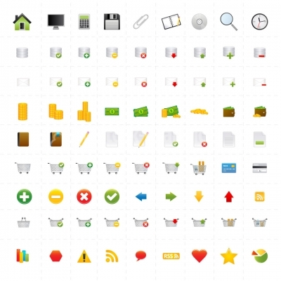 81 Vector Web Icons