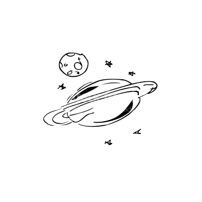 Drawings of planets