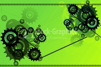 Abstract background with techno elements.
