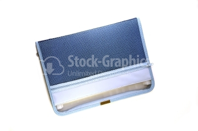 Deep blue file folder isolated on white