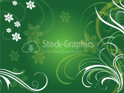 Green floral vector background