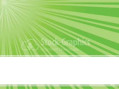Green sun rays vector background
