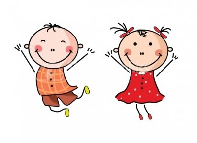 happy boy and girl clipart design elements stock graphics rh stock graphics com boy and girl clipart love boy and girl clipart free