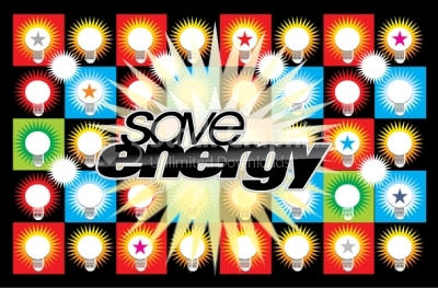 Save energy vector background
