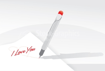 Letter with i love you