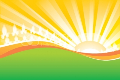 Sunrise vector background - Nature - Stock Graphics