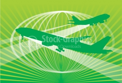 Plane vector background