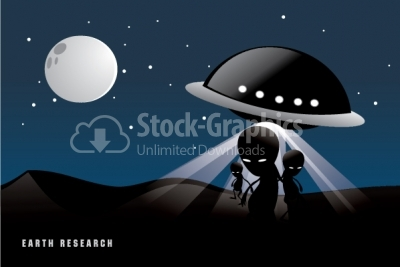 UFO vector background