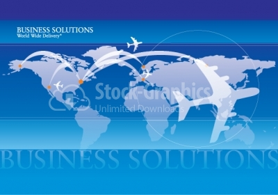 Business solutions vector background