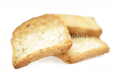 Toast bread isolated on a white background