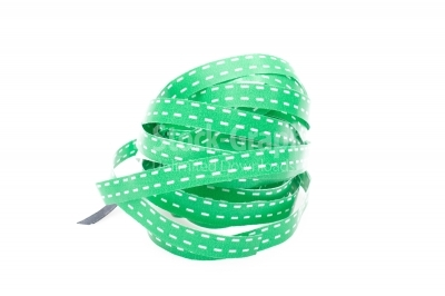 Green tape on white