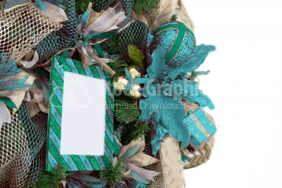 Wreath with photo frame