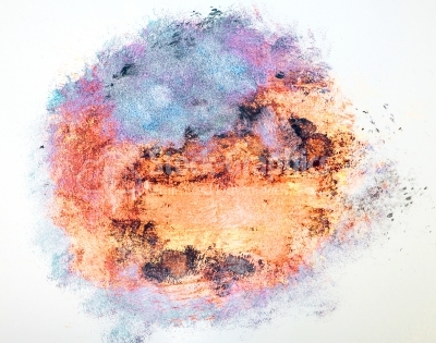 Round abstract watercolor texture