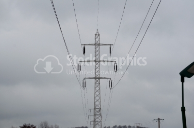 Electric high voltage power line