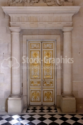 Interior door of Church of St-Louis-des-Invalides