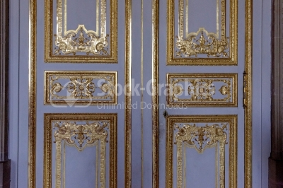 Ornaments on the doors inside les invalides , France, Paris