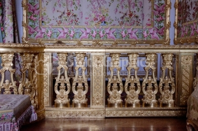 Details of royal bedroom at Chateau de Versailles (Palace of Ver