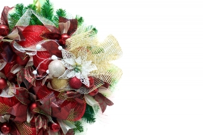 Wreath with white space for text