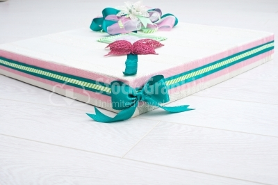 Colorful hand made gift box