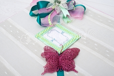Cute decorated gift pack for presents with space for text