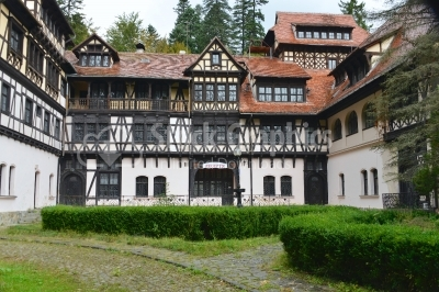 Ancient hotel near Peles, Sinaia