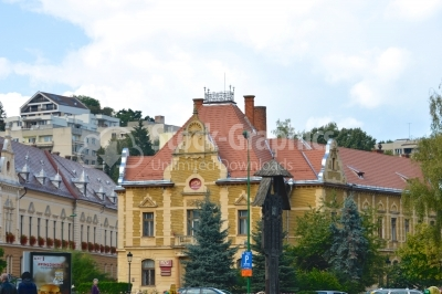 Post office in Brasov in a summer day