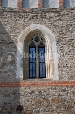 Windows close up from St Johns Church Piatra Neatra Moldavia Rom