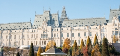 Beautiful palace in Iasi city, Romania