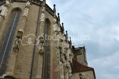 Large Gothic building of the Black Church (Biserica Neagra) in B