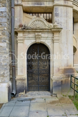 Old entrance door