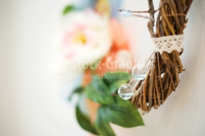 Colorful decorative artificial wreath