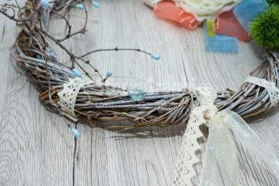 Twig wreath decoration