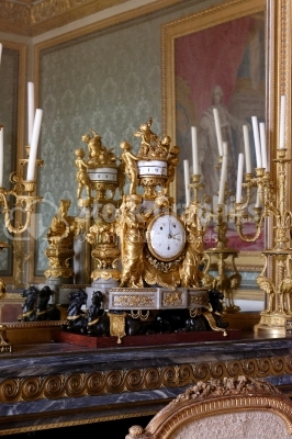 Versailles, France - Mechanical clock at Versailles Palace