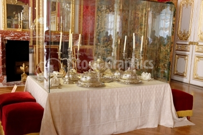 Interior Chateau of Versailles - silver dishes