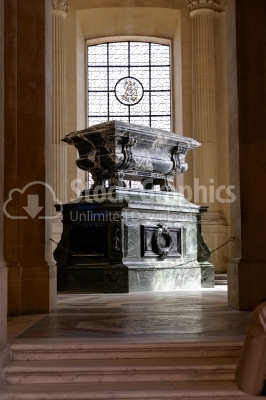 Napoleon's Tomb at Les Invalides in Paris, France