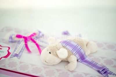 Gift box with small sheep