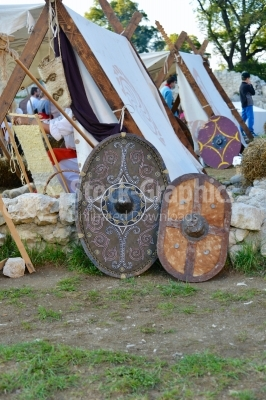 Ancient warrior shields